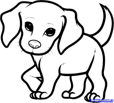 puppy coloring pages cartoon puppy coloring page for kids animal