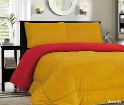 Lightweight Comforters Down Alternative Reversible Comforter Red Gold Down Comforters