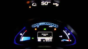 nissan leaf range 2013 nissan leaf low battery warning very low battery warning youtube