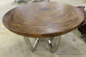 Natural Slab Dining Table Most Recent Round Natural Wood Dining Table U2039 Woodensigns Info
