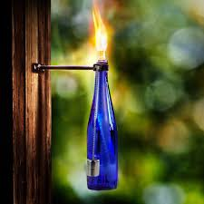 tiki home decor lanmu wine bottle tiki torch bottle torch diy home decor kit tiki