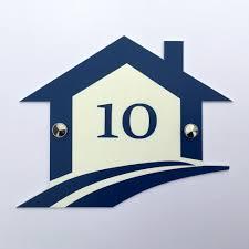 plaque numero rue plaque numéro de maison format 180 x 145 mm découpe et gravure laser