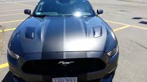 Black Mustang With Stripes 2015 Ford Mustang Gt Matte Black Rally Stripes Youtube