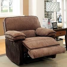 Two Tone Reclining Sofa Furniture Of America Hazel Mocha Brown Two Tone Chenille