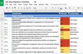 High Level Project Plan Excel Template Data Migration Checklist Planner Template For Effective Data
