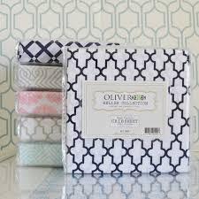 dove grey trellis crib sheet oliver b