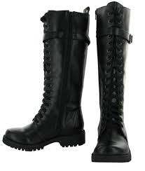 womens boots knee high leather volatile combat s boots knee high faux leather vegan