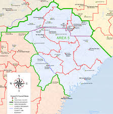 Map South Carolina Coast Southern Region Area 5 Councils Sr5 Venturing