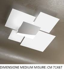plafoniera soffitto top light shadow plafoniera moderna 纔71 vetri bianco lucido