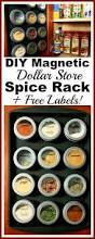 diy magnetic dollar store spice rack with free printable spice jar