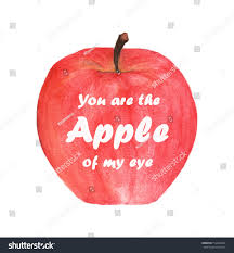 you apple my eye lettering stock illustration 714493498