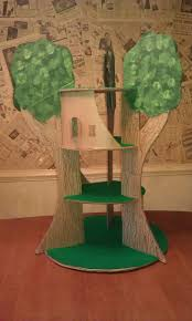 cardboard treehouse download template at familyfun com making