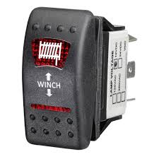ridge ryder sealed rocker switch in out winch supercheap auto