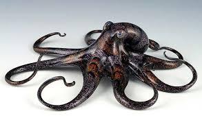 dichroic glass octopus sculpture by bisson quantum creative
