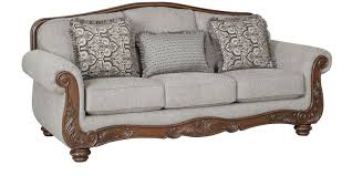 chrysler fabric three seater sofa in beige davenue