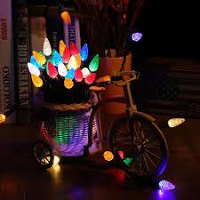 faceted c5 70 led lights 120v ul multi color brizled