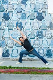 yoga on location the 10 000 buddha mural wall yoga on location ryan orrico at 10 000 buddha mural wall by amanda giacomini