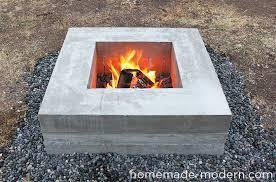 Modern Firepit Modern Ep46 Concrete Pit