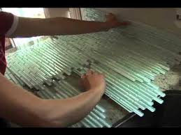 Installing Glass Tile Amazing How To Install Glass Tile Backsplash How To