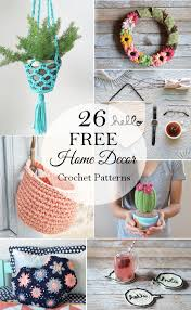 free crochet patterns for home decor 26 free crochet decor patterns whistle and ivy