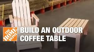 how to build an outdoor coffee table youtube