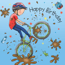boys birthday boys birthday card bmx bike tw667
