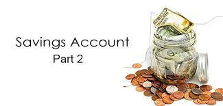 on saving account part 2