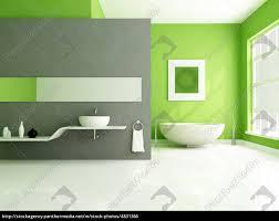 Bad Grau Grün Und Grau Zeitgenössische Badezimmer Stock Photo 4831366