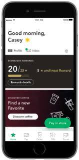 mobile apps starbucks coffee company