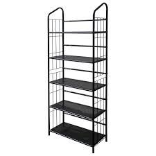 home decorators collection black steel bookcase r597 5 the home