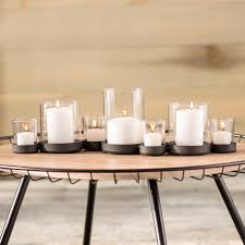 brayden studio selby 7 piece bubbles iron and glass candle holder