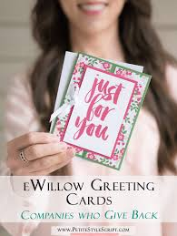 giving back series ewillow greeting cards cosmetics for a cause