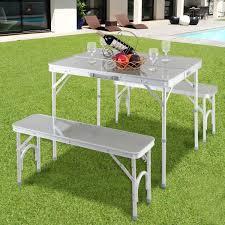 aluminum portable picnic table costway rakuten costway aluminum portable folding picnic table
