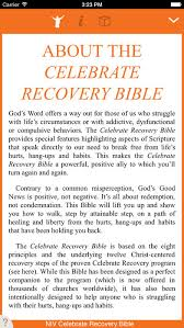 celebrate recovery bible on the app store