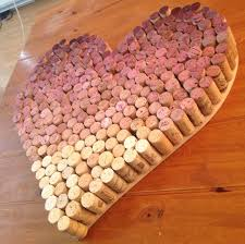 Heart Shaped Vase With Cork Post Grad Crafting Ombre Wine Cork Heart