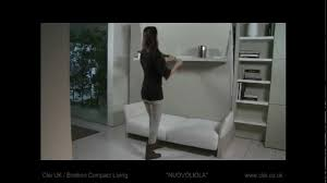 Bed Wall Unit Clei Uk Nuovoliola Sofa Wall Bed Unit Youtube