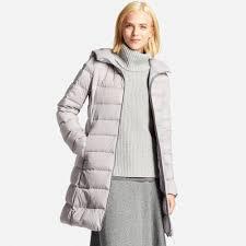 women ultra light down stretch hooded coat uniqlo us