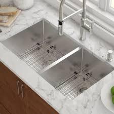 Undermount Kitchen Sink | kraus 33 x 19 double basin undermount kitchen sink with drain