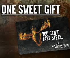 longhorn gift cards refer a friend to the longhorn steakhouse eclub