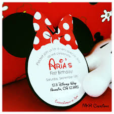 mkr creations minnie mouse invitations