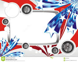 Design Of American Flag Music Fantasy Design For The American Flag Stock Vector Image