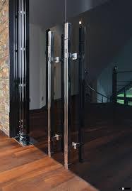 glass door pull handle massive azure door handle made in germany manufactured by mwe