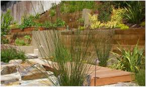 backyards fascinating sloped back yard landscaping ideas