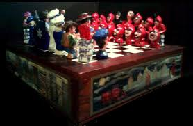 st paul winter carnival chess set mn artists