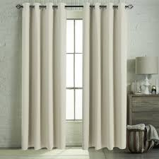 amazon com aquazolax solid ring top thermal insulated blackout amazon com aquazolax solid ring top thermal insulated blackout curtains for living room set of 2 panels 52x95 inch beige home kitchen