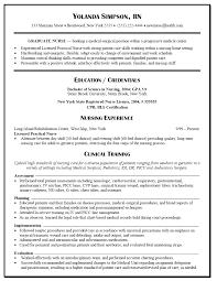 Resumes Sample Lpn Resume Examples Template Sample Of Registered Nurse Resume