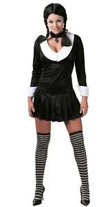 Addams Family Costumes Ladies Wednesday Addams Family 1960s Halloween Fancy Dress