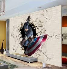 Captain America Bedroom by 3d View Wall Mural Captain America Photo Wallpaper The Avengers