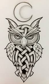 photo collection owl tattoo design