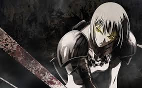 anime wallpapers girls sword fighting blood fight claymore armor yellow eyes anime anime girls swords
